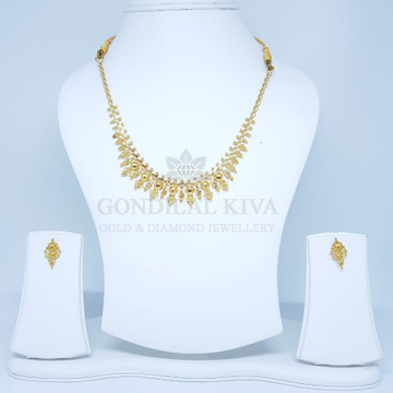 18kt gold necklace set gnl124 - gft369 by