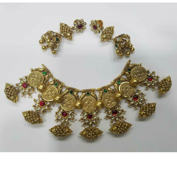 916 Traditional Gold Ladies Fusion Antique Bridal Set