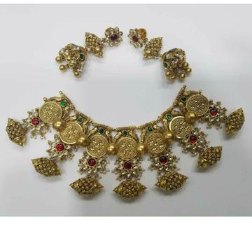 916 Traditional Gold Ladies Fusion Antique Bridal Set