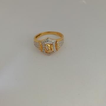 916 gold om design Gents ring by Vinayak Gold