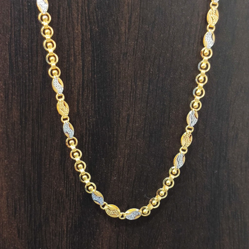 22 carat gold handmade chain by Suvidhi Ornaments