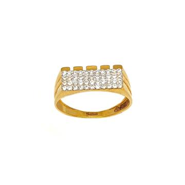 22K Gold Lining Diamond Ring MGA - GRG0200