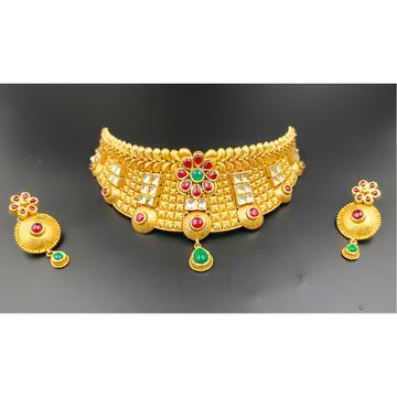 916 Gold Hallmark Choker Bridal Necklace Set  by Ranka Jewellers