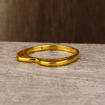 Ladies 22K Gold Fancy CZ ring -LPR142