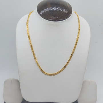 Gold hollow gents chain by