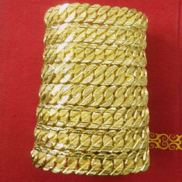 22KT Gold Thick Handmade Singapori Gents Lucky