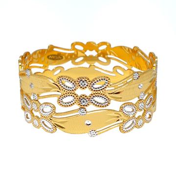1 Gram Gold Forming Designer Bangles MGA - BGE0472