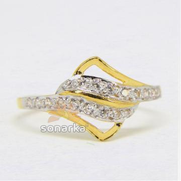 22ct Hallmarked Yellow Gold AD Diamonds Ladies Rin... by