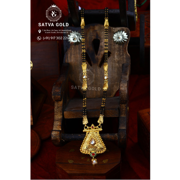 916 Gold Antique Mangalsutra AMG-020