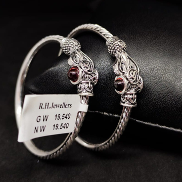 silver antique baccha kada RH-BK614