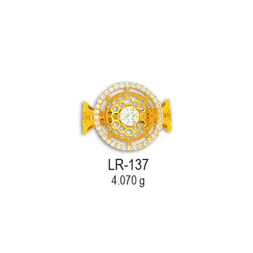 Designer-22KT-CZ-Gold-Ladies-Ring-LR-137