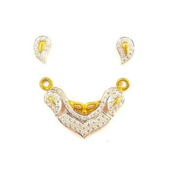 916 GOLD CERTIFIED FANCY LADIES MANGALSUTR PANDENT... by Shreeji Silver Palace