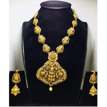 916 gold antique temple design necklace set bj-n00... by