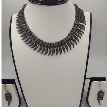 Silver 925 Oxidised Necklace Set JNC0021