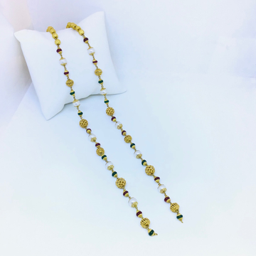 FANCY ANTIQUE GOLD MALA FOR LADIES by