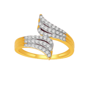 18 k gold real diamond ring, by