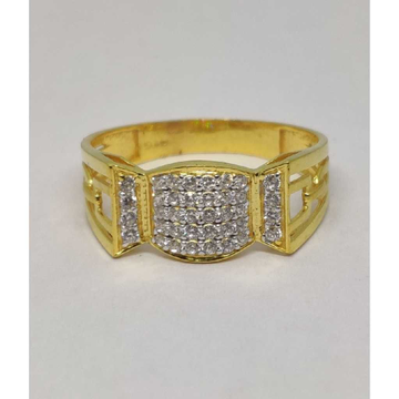 22k Gents Fancy Gold Ring Gr-28597