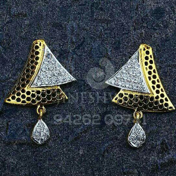 18kt Gold Cz Fancy Ladies Tops ATG -0577
