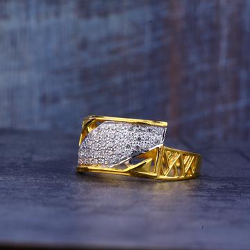 Mens Gold 22K Fancy Cz Ring-MR430