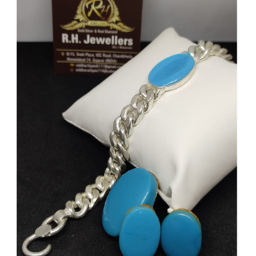 SILVER  gents salman bracelet RH-BL683