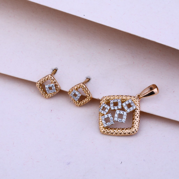 750 Rose Gold  Pendant Set RPS71