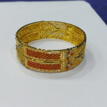 916 Gold Fancy Bangle RJ-N002 by