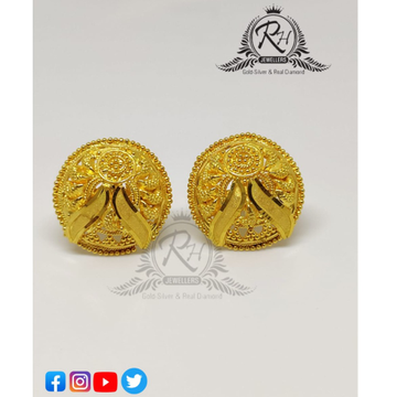 22 carat gold round earring RH-ER1101