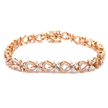 Hermoso Flexible Tennis Bracelet in Diamonds for Evening Wear