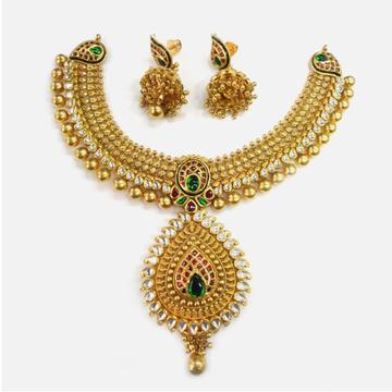 916 Gold Antique Necklace Set RHJ-0012