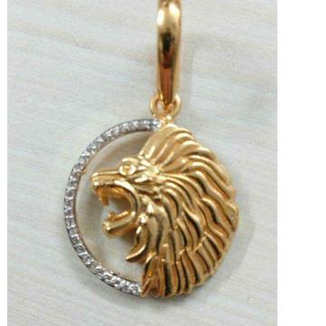 916 Gold Stylish Lion Design Pendant