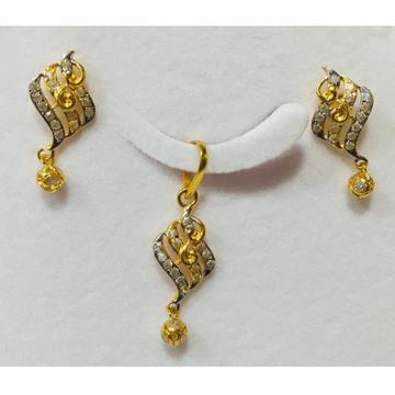 22kt gold fancy pendant set nj-p013