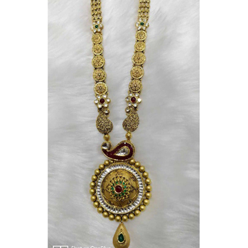949d6308f8a Wholesaler of Antique 916 gold ladies jadtar long necklace set ...