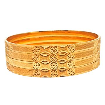 One gram gold forming plain bangles mga - bge0336