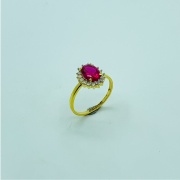 22CT GOLD RUBY DIAMOND RING by