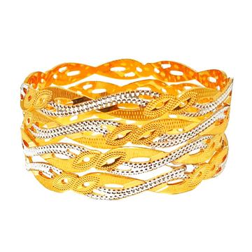 One gram gold forming modern bangles mga - bge0258