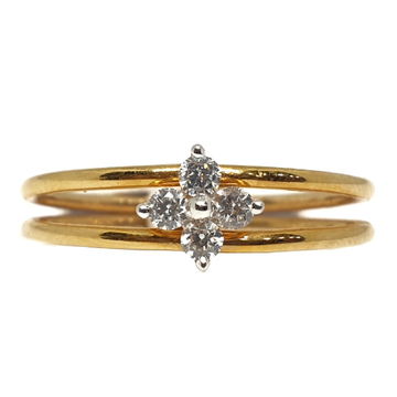 18k gold real diamond ring mga - rdr0045