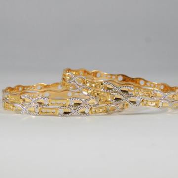 22Kt Yellow Gold Misty Hue Bangles For Women