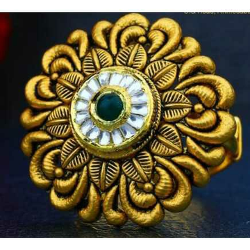 916 Antique Gold Jadtar Ring