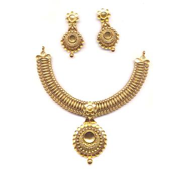 916 Antique Gold Jewelry Khokha OM - N10