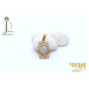 22KT / 916 Gold CZ Hexagon Daily ware Pendant for... by