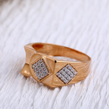 18KT Rose Gold CZ exclusive Mens Ring RMR95