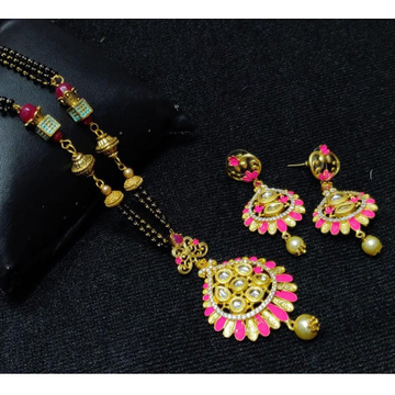 916 Gold Colorful mangalsutra with Earrings