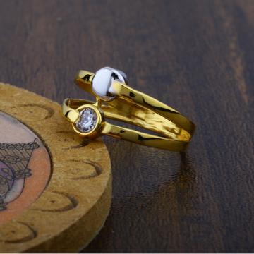 916 Plain Gold Solitaire Diamond Ring JJ-013