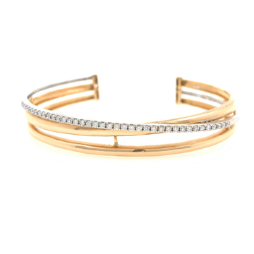 18kt / 750 rose gold fancy micro set diamond bracelet 7brc28