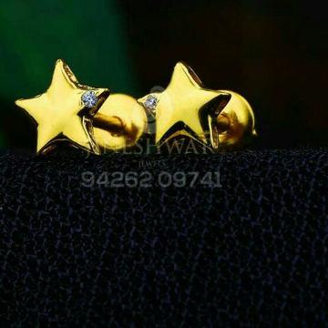 18kt Plain Gold Cz Star Shape Ladies Tops ATG -0220