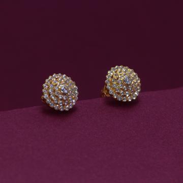 22KT Hallmarked Attractive gemstone Earring by Simandhar Jewellers