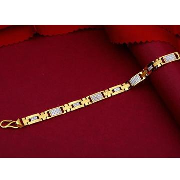 22kt gold casting CZ Gents bracelet RH-GB988