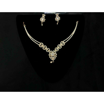 92.5 Sterling Silver Half Necklace Set Ms-3932