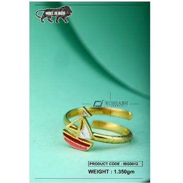 18 carat gold Kids ring stimber ibg0012 by