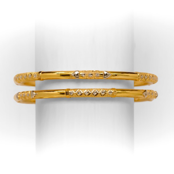 916 single pipe gold copper bangle by